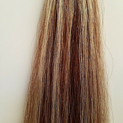New 1lb Tail Extension Med Sorrel w/ Creamy White Streaks weighted KATHYS TAILS!