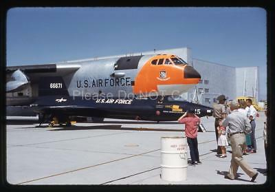 365N Original 1950's Slide USAF B-52 Stratofortress Alongside X-15 Jet Aircraft