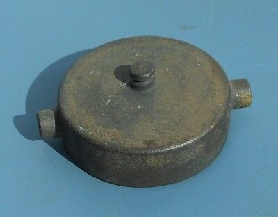 Vintage FIRE HYDRANT Cast Brass Side CAP 3'' Fitting TCIW - FREE SHIPPING