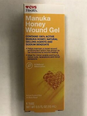MANUKA HONEY WOUND Gel for Minor Cuts, Burns, Abrasions  5
