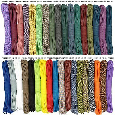 550 Mil Spec Type III 9 Strand Paracord Parachute Cord Lanyard Rope Clothes Line