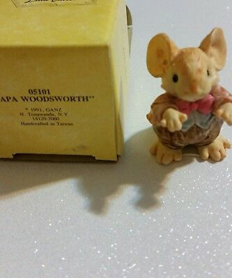 Little Cheesers Papa Woodsworth 1991 Figurine by Ganz New In Box #05101