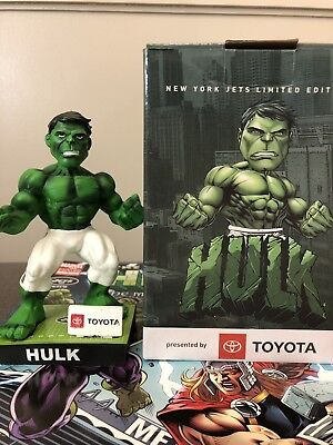 RARE Limited Edition 10/21 NEW YORK JETS INCREDIBLE HULK Bobblehead MARVEL SGA