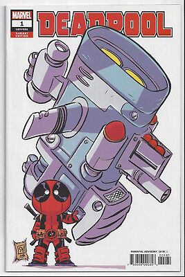 Deadpool #1 (2018)~ Skottie Young Variant ~ Nm/mint 9.8 : Send This Book To Cgc!