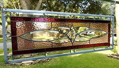 """Stained Glass Window Panel Hanging - 27 1/2"""" x 9 3/4"""""""