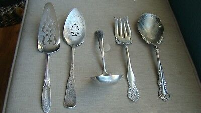 ~ Lot of Vintage Silver Plated Serving Utensils ~