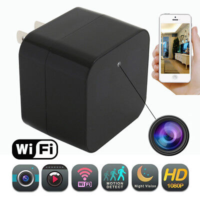 1080P HD Hidden SPY Cam Wall Charger WiFi Remote Live Recorder Motion Camera