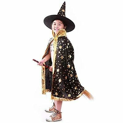 Witch Wizard Cloak With Hat Wizard Cape Childre's Halloween Costumes Girl/Boy