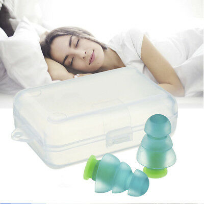 Noise Cancelling Ear Plugs +Box for Sleeping Concert Musician Hearing Protection
