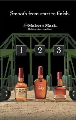 Makers Mark Horse Racing Poster 18 By 27
