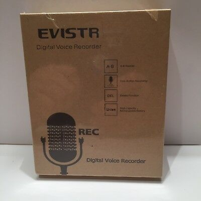 Evistr ! Digital Voice Recorder / Rechargeable Battery New Sealed ! 👀!Free Ship