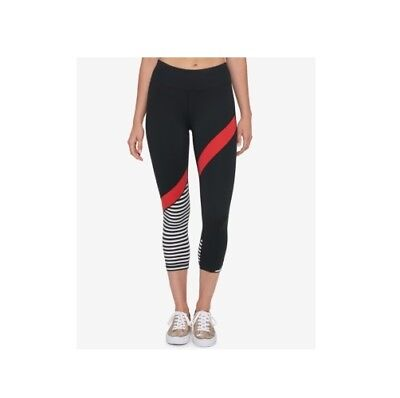 babfea6883daa Tommy Hilfiger Women's Cropped MidRise Athletic Workout Leggings Red, Large