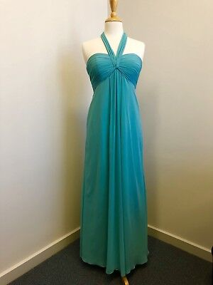 Formal Bridesmaid Dress Tiffany Blue Colour / Glacier Blue Chiffon Size 10 New