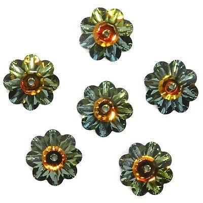 SCM360 Crystal Tabac Brown 10mm Marguerite Lochrose Flower Swarovski Beads 12pc