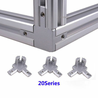 4pcs 2020 T-slot profile L shape 3-way 90° inside Corner Joint Bracket Connector