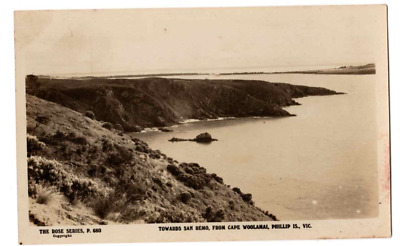 Antique Postcard Toward San Remo From Capre Woolamai Phillip Is Vic Used