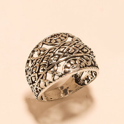 Silver Tone Fashion Jewelry Ring Retro Vintage Ethnic Collection New Year Gifts
