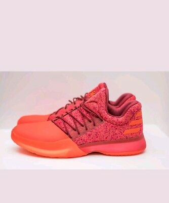 NEW Adidas James Harden Vol. 1 Boost Basketball Shoes Red B39501 Mens Size 11