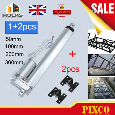 Linear Actuator Motor DC 12V Electric Door Opener Bracket 50 100 200 300 500mm