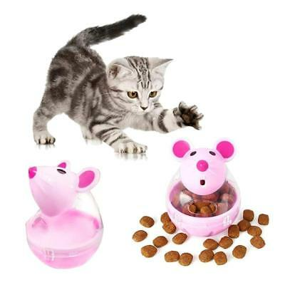 Pet Cat Dog Tumbler Feeder Leakage Food Dispenser Treat Ball Mice Toy Lovely