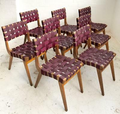 Set Of 8 Vintage Dining Chairs - Retro Snelling Design Parker Featherston Era