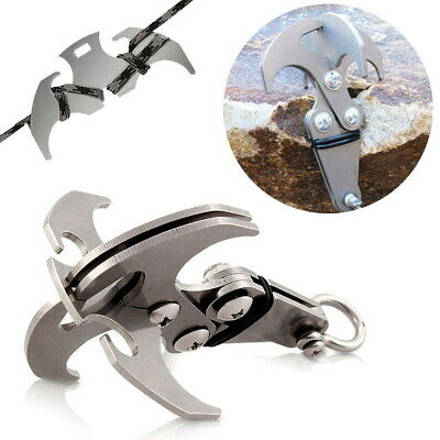 Stainless Steel Survival Gravity Hook Carabiner Climbing Claws Rescue Tool MO