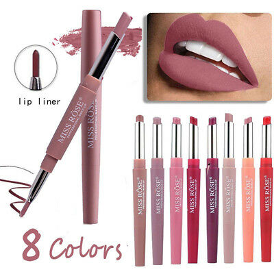 HOT MISS ROSE Waterproof Long Lasting Pencil Lipstick Pen Matte Lip Liner Makeup