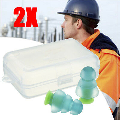 2pcs Noise Cancelling Ear Plugs Sleeping Concert Musician Hearing Protection