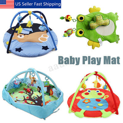 Baby Kids Animal Printed Playmat Center Pedal Game Activity Fitness Gym Mat