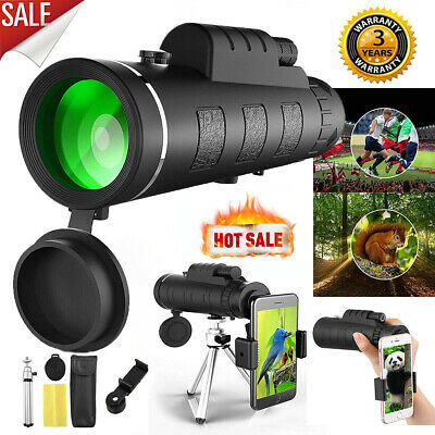 50X60 Zoom Optical HD Lens Monocular Telescope Tripod Clip Set For Mobile Phone