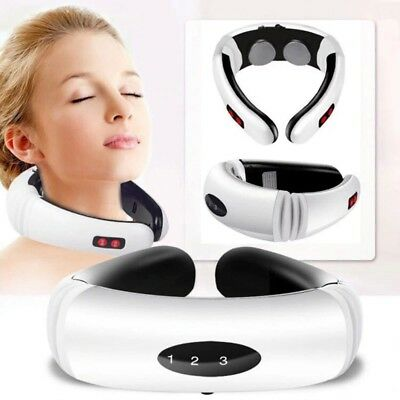 Cervical Neck Massager Shoulder Body Relax Massage Electric Magnetic Therapy QW
