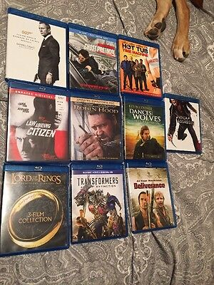 Huge Lot 10 Action And Drama Blu Rays 007 Lord Of The Rings Transformers Etc