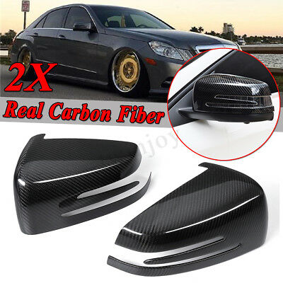 CARBON FIBER SIDE MIRROR COVERS for 10-15 MERCEDES BENZ W204 W212 W218 C63 AMG