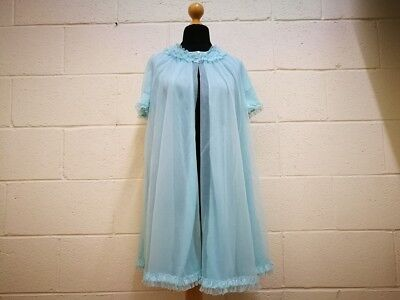 Vintage Ladies Nighty. Baby Doll Blue Kitsch. 1960s St Michael. Fab! Size 10/12