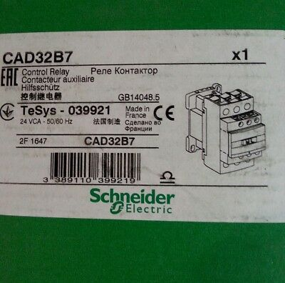 Contacteur, Schneider Electric, 3 N/O, 2 N/F, Gamme TeSys, série CAD3