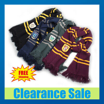 Harry Potter Adult Kid Gryffindor Robe Cloak Costume Cape Tie Scarf Cosplay Wand
