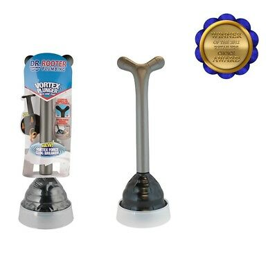 Vortex Professional Grade Plunger With Drip Tray Splash Guard Extra-large Head