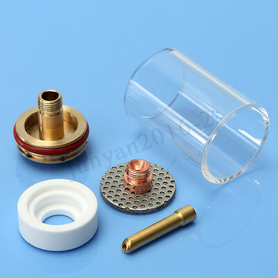 TIG Welding Torch Kit Gas Lens Collet Body Cup Nozzle For WP17/18/26 1/8""