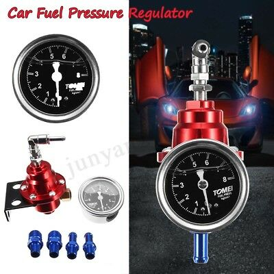 Adjustable Car Auto Fuel Pressure Regulator with kPa Oil Gauge Kit RD