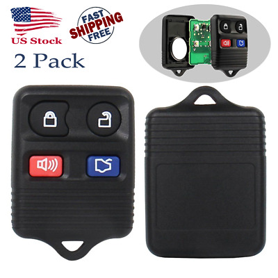 2 Replacement Keyless Entry Key Fob Remote Control Chip Transmitter Clicker Ford