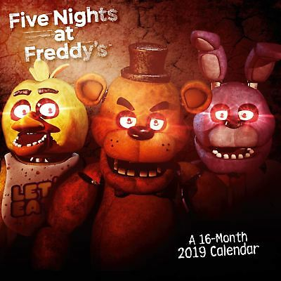 Official 2019 Five Nights At Freddys Calendar Square Gift Present Wall Hanging