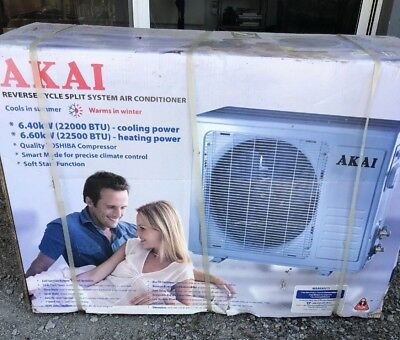 AKAI 6.4 Kw Reverse Cycle Split System Air Conditioner Outside Half Only Bargain
