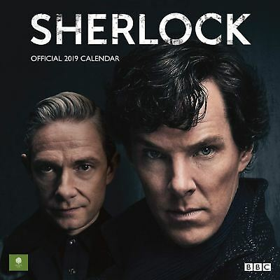 Official 2019 Sherlock Calendar Square Wall Hanging Gift Birthday Present