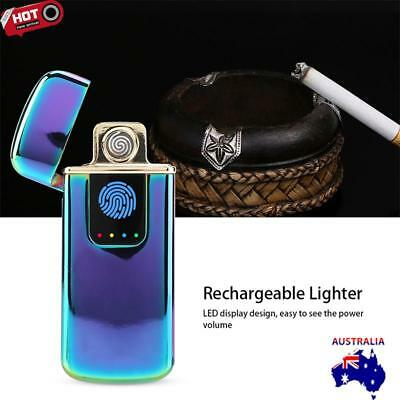 New Windproof Flameless Metal  USB Electric Arc Cigarette Touch Finger Lighter
