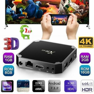 X96 Mini 4K Smart Tv Box Android 7.1 Amlogic Quad Core Wi-Fi HD 1/2GB+8/16GB