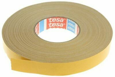 Tesa 4964 White Double Sided Cloth Tape, 25mm x 50m, 0.39mm Thick