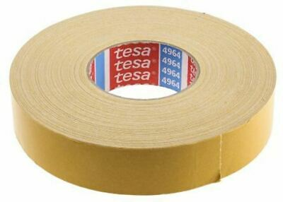 Tesa 4964 White Double Sided Cloth Tape, 38mm x 50m, 0.39mm Thick
