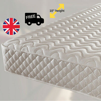 Memory Foam Mattress Luxury Damask Micro Quilted Spring Matress 3ft 4ft 5ft 6ft