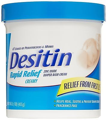 DESITIN Rapid Relief Diaper Rash Cream 16 oz EXP. 03/20
