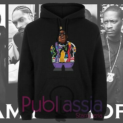 Biggie Small Felpe Cappuccio Girocollo Hip Hop Rap Notorious Big idea regalo 40